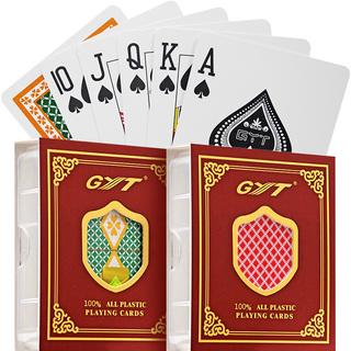 Игральные карты,  Пластик покер GYT дуплекс матовое анти - вода моющиеся пластик PVC для взрослых сгущаться шаттл (челнок) хохотать мост карты 6 загружен, цена 1255 руб
