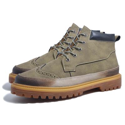 冬季马丁靴男靴皮靴子男士短靴工装军靴