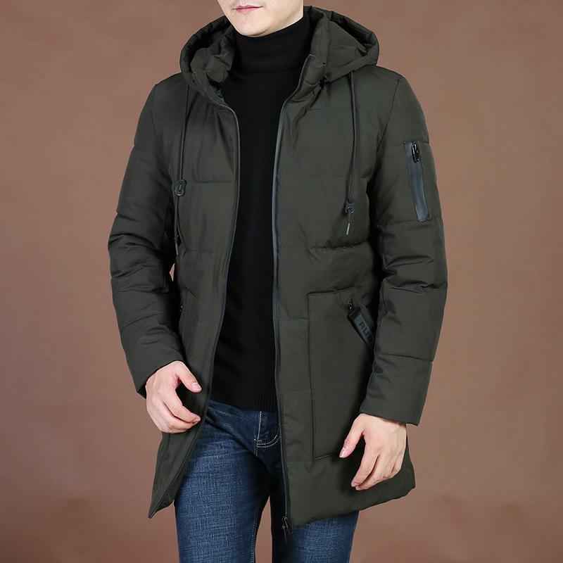 2019 Winter Men Áo ấm cotton rộng rãi Áo khoác nam cho nam Jeep Shield Casual Wild Fashion Kích thước lớn Áo khoác lông cừu màu - Bông