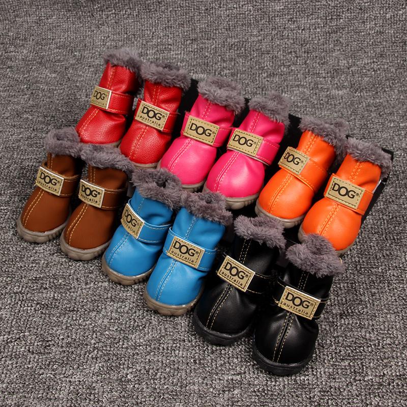 Туфли для щенков teddy shoes VIP сапоги ботинки с утеплением удерживающий тепло Чехол для обуви из бишона нескользящие водонепроницаемый осень-зима сезон