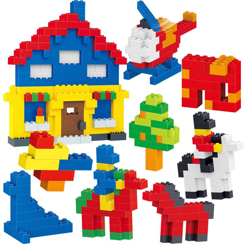 樂高小颗粒积木男孩diy散装拼装称斤手工6岁女孩儿童拼插益智玩具