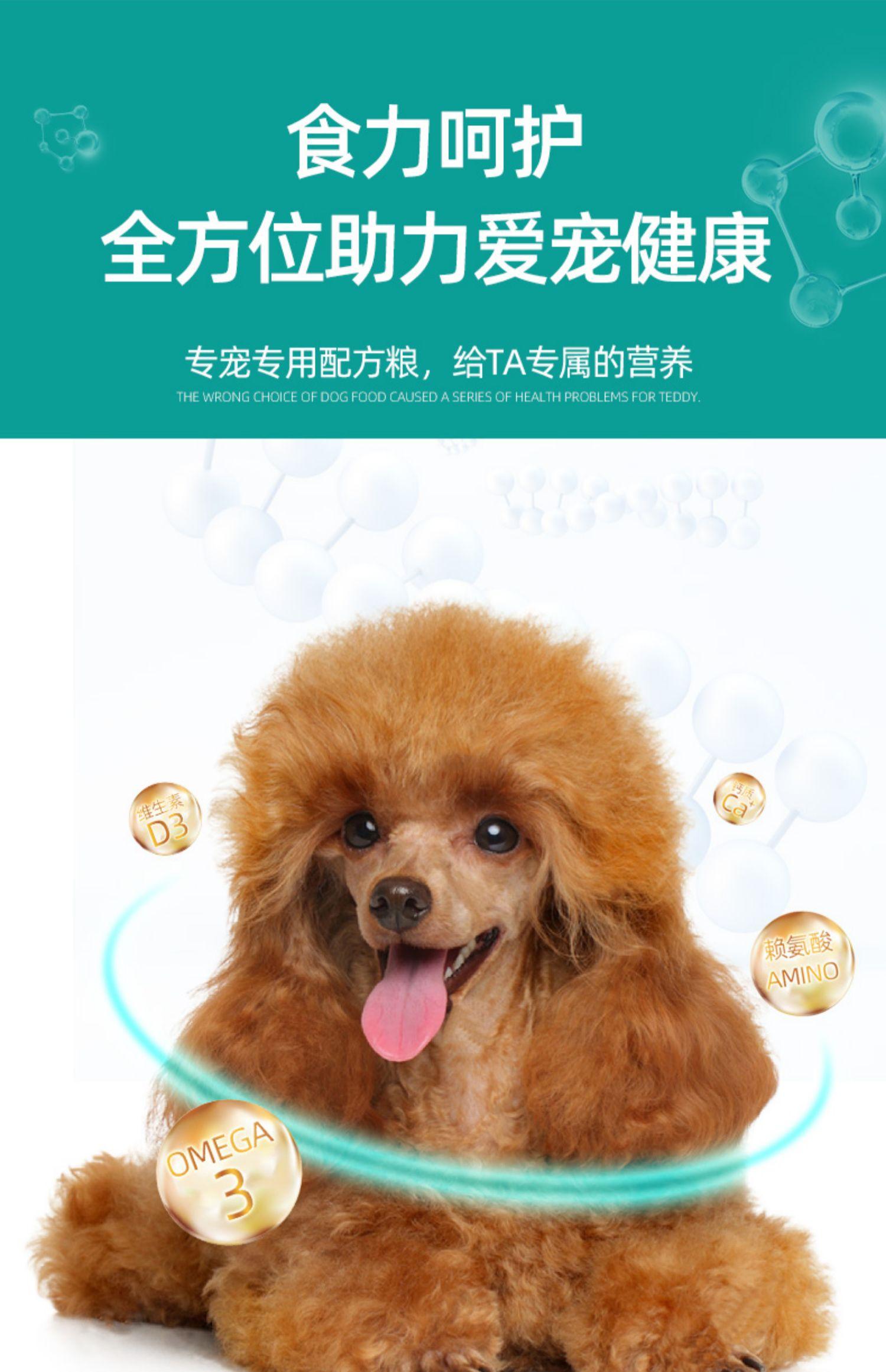 泰迪狗粮贵宾幼犬小型犬专用粮 14