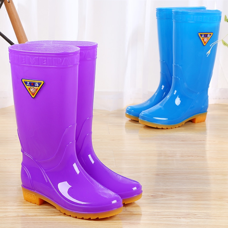 Charmant Rain Boots Rain Boots Water Shoes Water Boots Rubber Shoes Shoes Female  Korean Fashion Long High