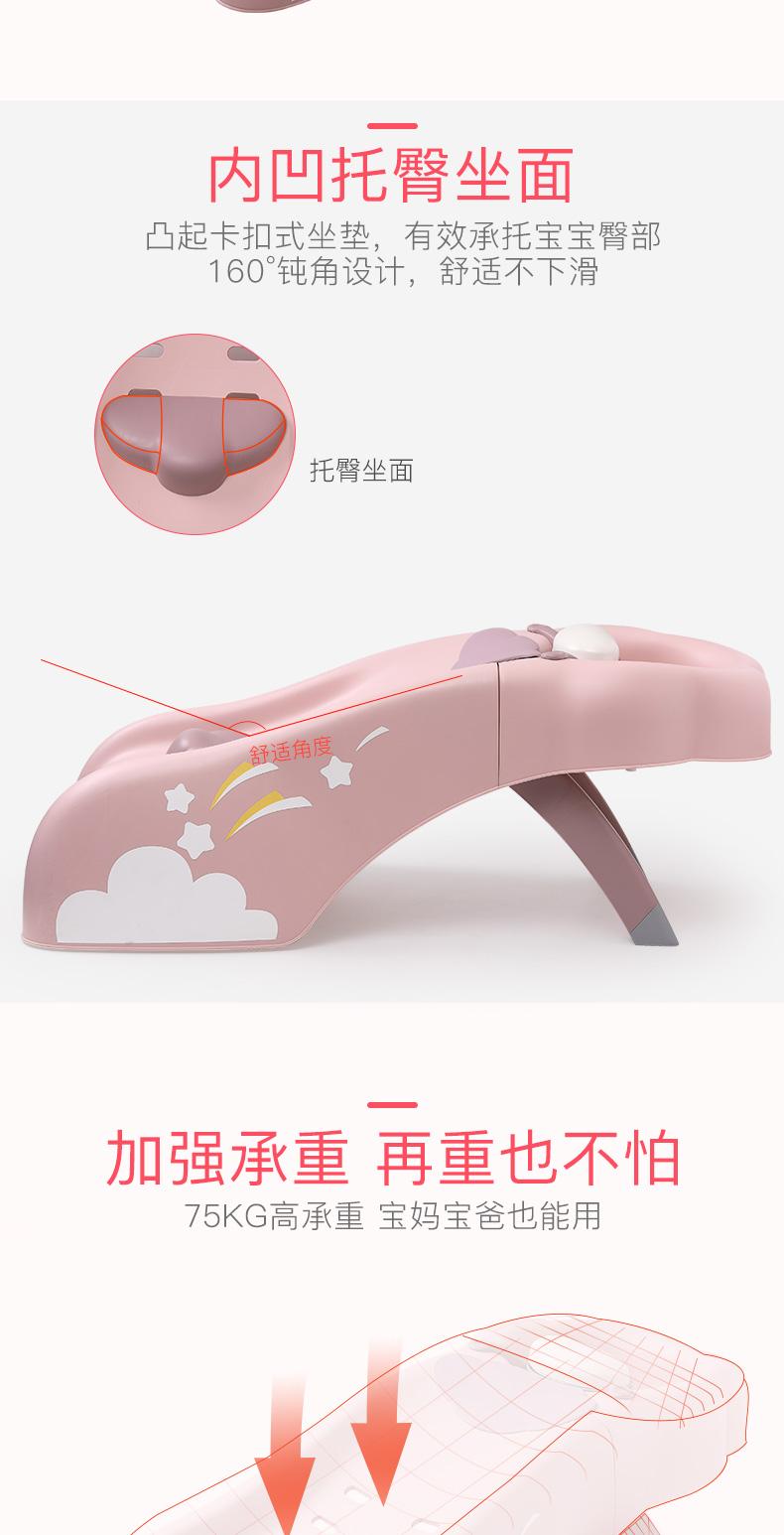 世纪宝贝婴儿童洗头髮躺椅神器加大家用可摺迭小孩宝宝洗髮椅架床详细照片