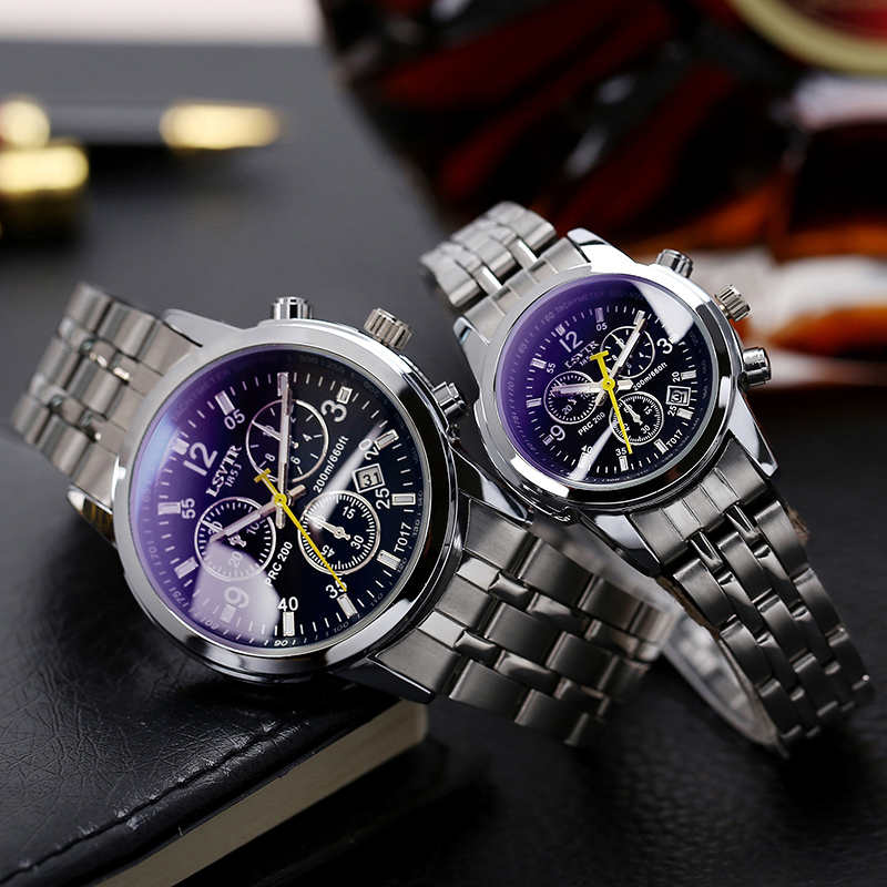 The new male high school students watch the trend of electro-mechanical quartz couple watch men domineering male table waterproof black &
