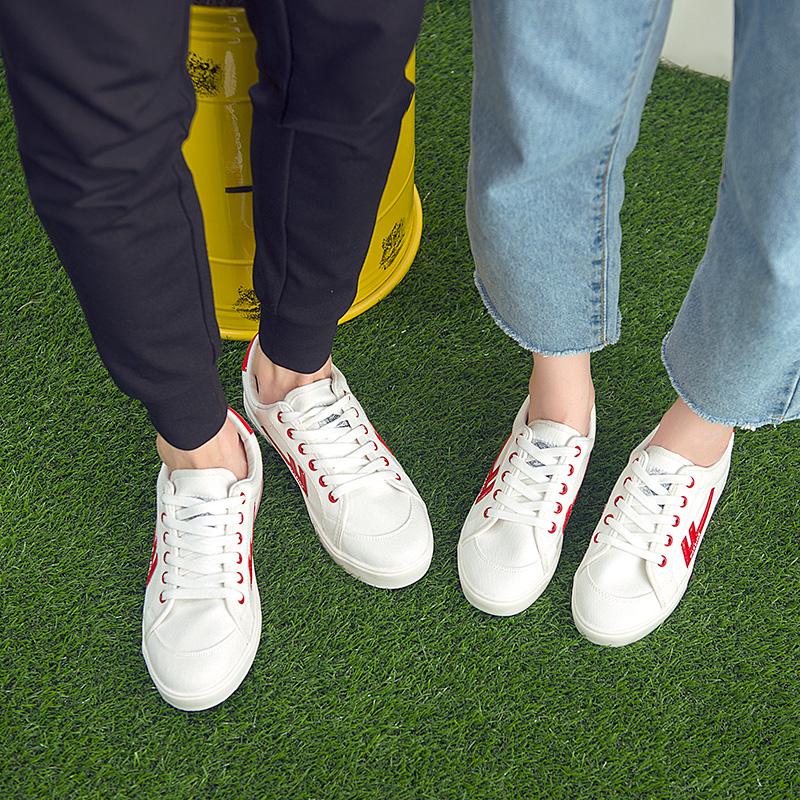 经典小白鞋!回力 情侣 休闲帆布鞋