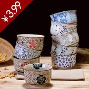 Jingdezhen Nhật Bản men màu bát gốm dao kéo đặt kê cơm bát cơm bát nhà súp nhỏ bát
