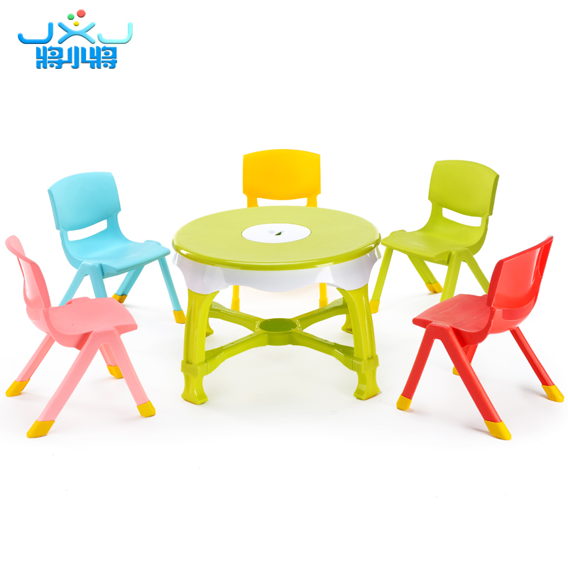 Will the childrenu0027s table chair thickening home childrenu0027s small round table and chair set baby eating table toy table and chair  sc 1 st  eBuy7.com & Will the childrenu0027s table chair thickening home childrenu0027s small ...