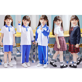 Shenzhen school uniform primary school uniform summer full set of enrollment set unified shorts short-sleeved children's school uniforms
