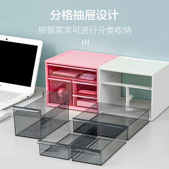 Alice desktop cosmetics storage storage box Alice office drawer type stationery finishing plastic storage box