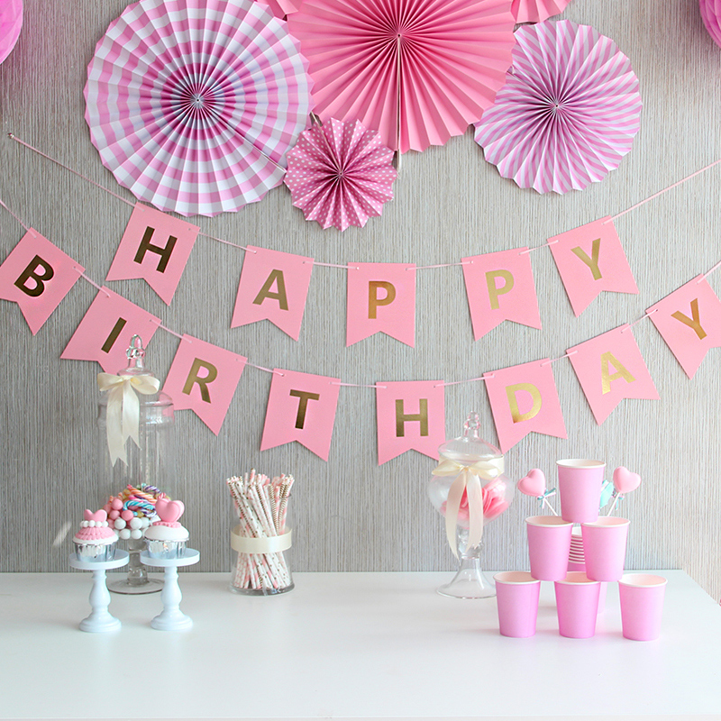 Usd 5 20 Birthday Flower Decoration Children Happy Birthday Letter
