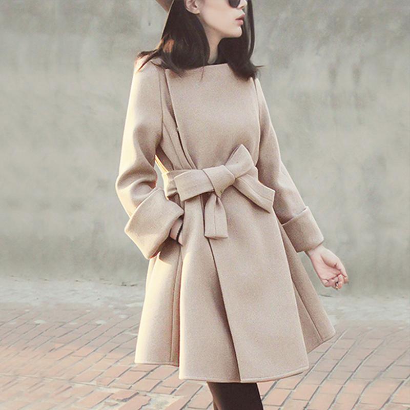毛呢外套女中长款韩版2018新款秋冬赫本风小个子呢子妮子流行大衣
