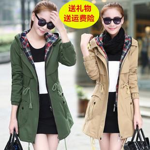 женский плащ Подлинная небольшой суб-пальто женский длинный участок весны и осени пальто 2018 подпружиненный новой корейской версии тонкий был тонкий женский прилива