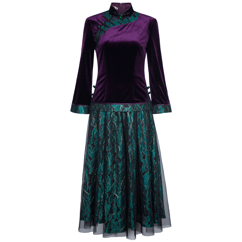ab19d7431 ... lightbox moreview · lightbox moreview. PrevNext. Chinese classic  cheongsam dress fake two-piece velvet Tang suit jacket female retro ethnic  style ...
