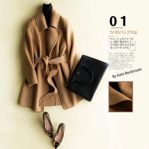 2017新款秋冬双面大衣女装中长款韩版高端毛呢外套韩国无羊绒反季