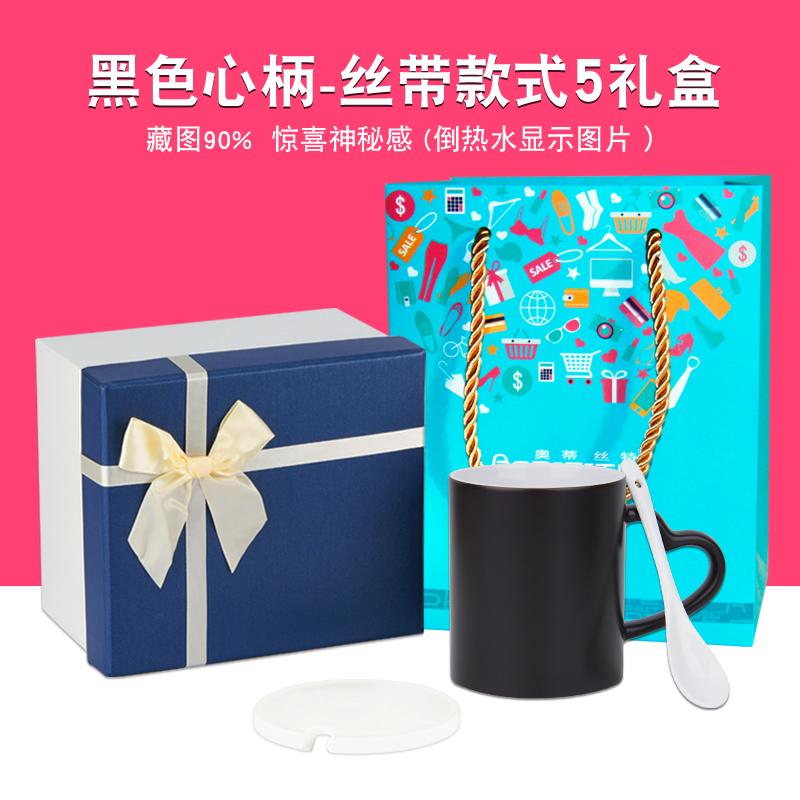 Обесцвечивать черный Рукоятка сердца( в подарок корпус Ложка + высокая Конец (5) подарочная коробка + подарочный пакет (горячая продажа стиль )
