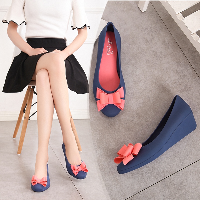 8cb328b54098 New fashion hit color slope with jelly shoes female summer plastic sandals  non-slip platform · Zoom · lightbox moreview · lightbox moreview ...