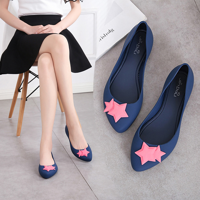 4ff58451aae7 2018 New shallow mouth flat jelly shoes female sandals summer soft soled  shoes waterproof beach stars · Zoom · lightbox moreview · lightbox moreview  ...