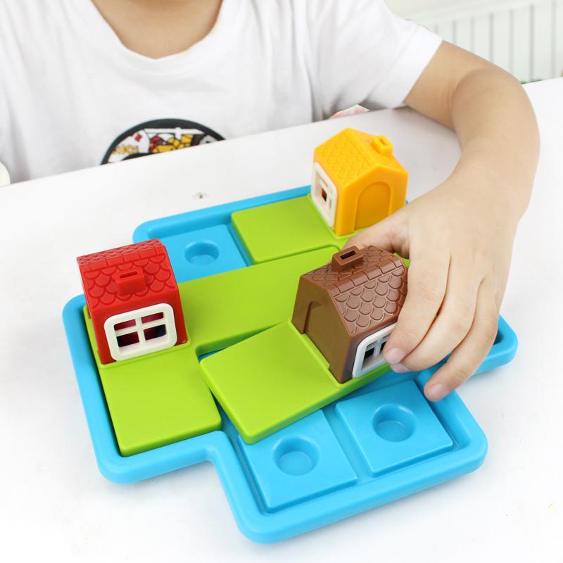 小乖蛋三只小猪益智玩具立体拼图3-8岁儿童逻辑思维训练桌面游戏