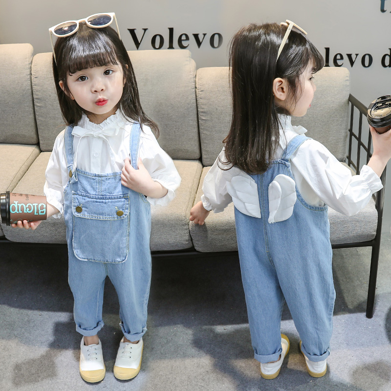 Children's pants carrying long pants infant spring belt pants men and women baby 01-2-3 years old foreign jeans