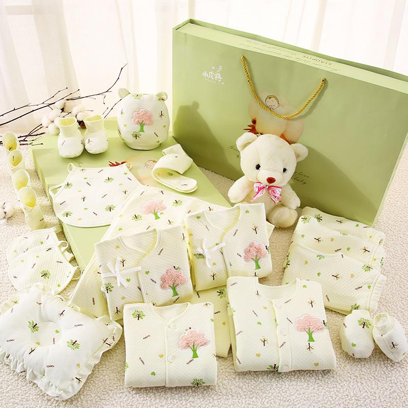 Bông bé quần áo sơ sinh bộ quà tặng 0-3 tháng 6 mùa xuân và mùa thu mùa hè bé sơ sinh nguồn cung cấp