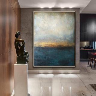 Масло, акварель,  Ручной работы живопись гостиная современный нордический стиль декоративный живопись абстрактный простой фреска вход американский картины большой ширина, цена 5698 руб
