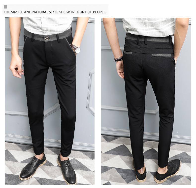 Quần nam làm việc để làm việc quần mỏng nam thanh niên mùa hè chân phù hợp với quần miễn phí hot chống nhăn quần mỏng mới