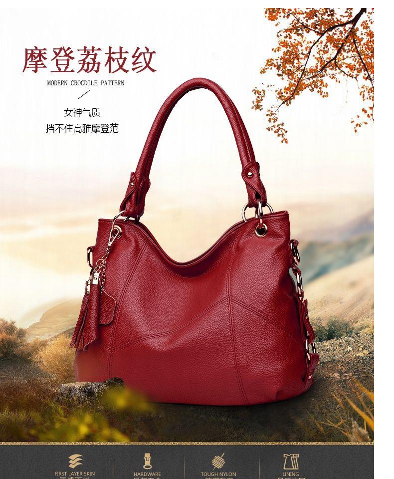 女包2020新款大包手提单肩斜挎软皮大气简约韩版大容量中年妈妈包商品详情图