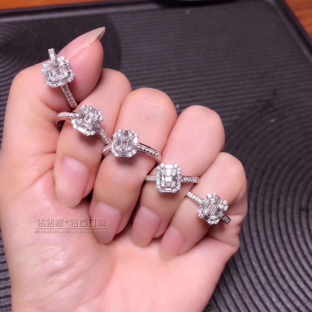 Drilling drill 18k gold diamond ring big rock candy luxury diamond ...
