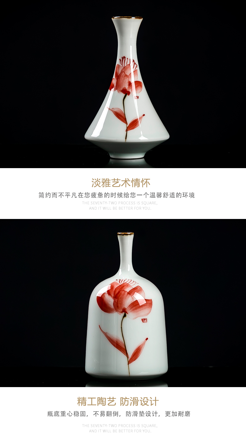 Jingdezhen hydroponic floret bottle ceramic fresh flower implement creative mini vase furnishing articles flower arranging special offer a clearance in the living room