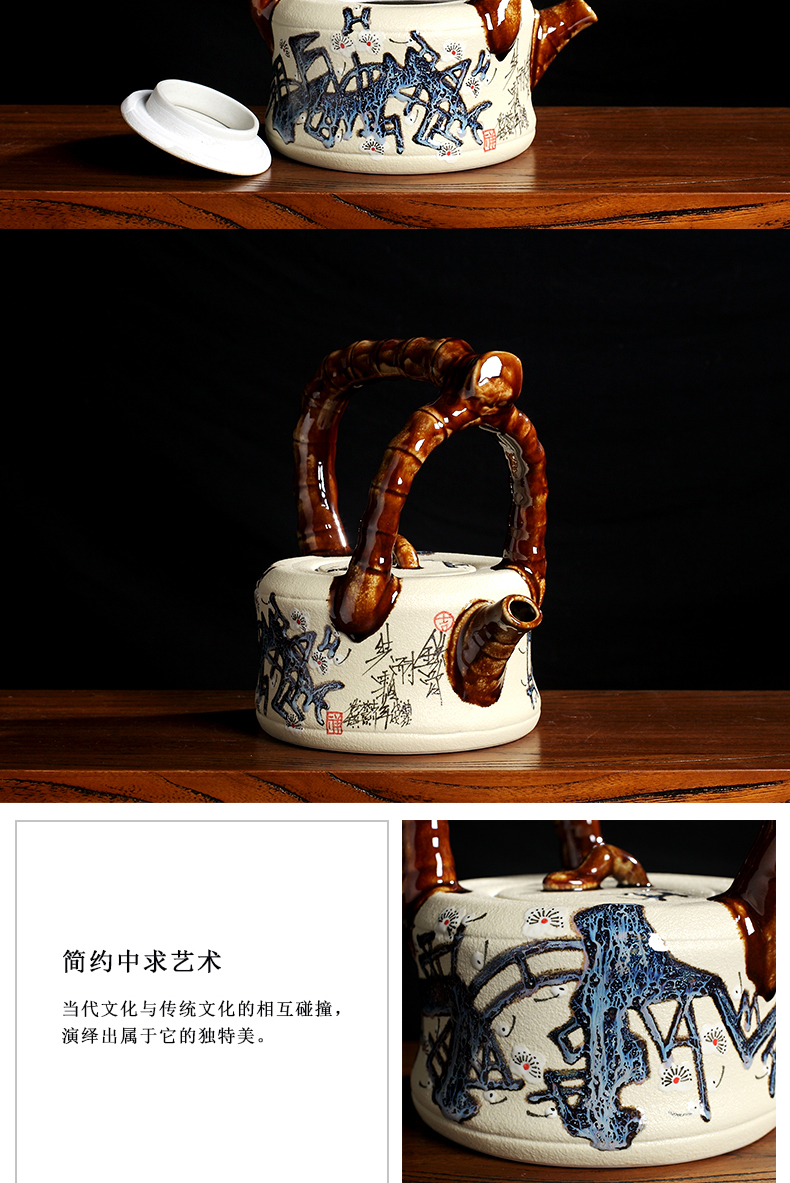 Creative tea zen furnishing articles of jingdezhen ceramics antique Chinese style rich ancient frame wine sitting room adornment handicraft