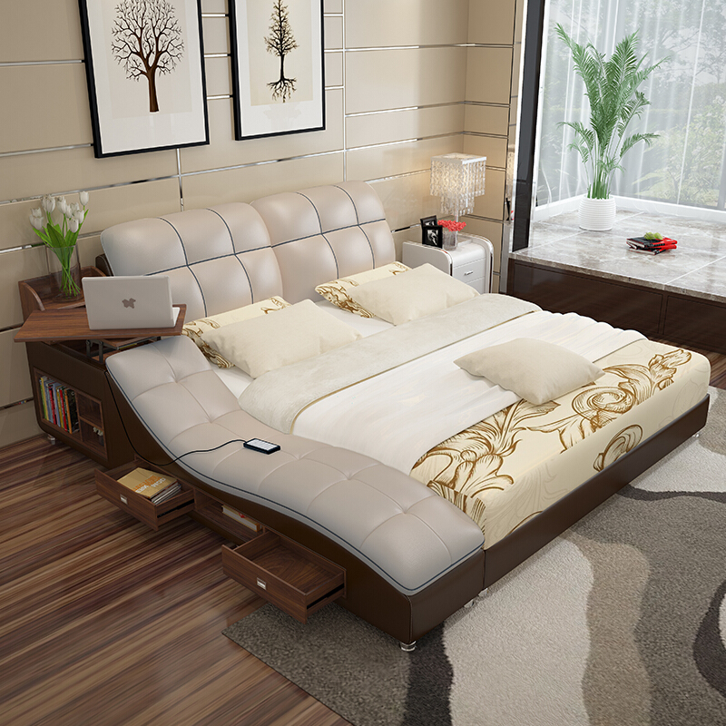 Usd Philippine Art Xuan Modern Simple Double Bed Tatami Bed Master Bedroom Wedding Bed