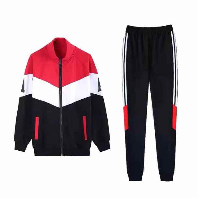Sportswear women's suit 2020 spring and autumn hip-hop tide brand ins fashion handsome casual loose two-piece suit