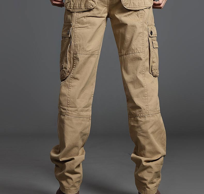 Mùa hè người đàn ông mỏng thể thao giản dị quần đa túi mỏng thẳng quần quần overalls quân phục đồng phục ngụy trang quần