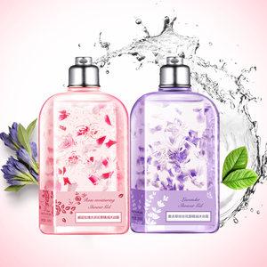 法国植物精油沐浴乳液 樱花花瓣香水沐浴露持久留香 滋润保湿