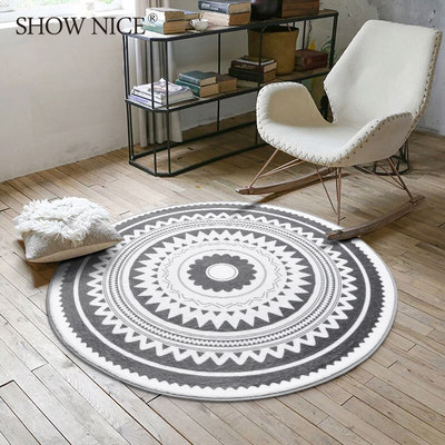 Nordic INS round carpet coffee table bedroom room hanging basket park car champion seat cushion home study computer chair floor mat