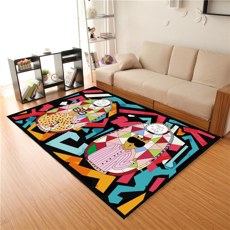 地毯地垫现代北欧客厅地毯沙发房间卧室床边毯榻榻米满铺可爱定製详细照片