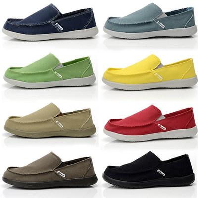 沃尔卢夏季透气包邮cross布鞋老北京男士男款懒人鞋一脚蹬低帮鞋