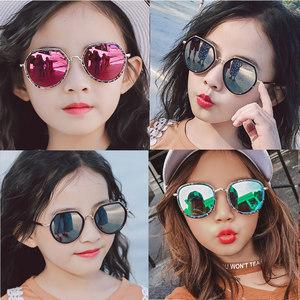 18年儿童太阳镜女童眼镜男童墨镜宝宝小孩眼睛个性防紫外线3-10岁