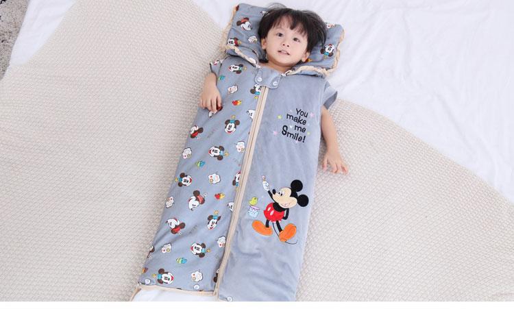 婴儿睡袋秋冬加厚拆袖新生儿童防踢被纯棉男女宝宝加长四季通用夏详细照片
