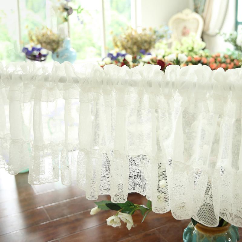 半帘定制纯色帘短帘a纯色纱帘厨房窗帘装饰田园咖啡帘门帘橱柜成品
