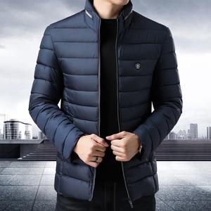 男士冬季棉衣外套百搭简约修身男装