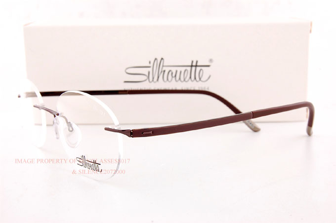 9c881fe877 New Silhouette Eyeglass Frames FUSION 5477 6059 Satined Brown 5479 ...