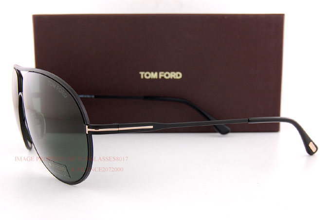 669fdc83331f5 Details about Brand New Tom Ford Sunglasses FT 450 Cliff 02N Matte Black Green  Men Aviator
