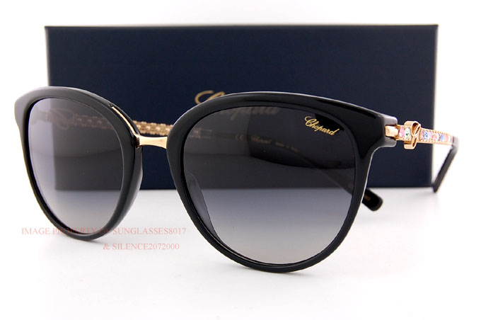 b4218f8f1a4 Details about Brand New Chopard Sunglasses SCH 213S 700M Black Gray Gradient  For Women