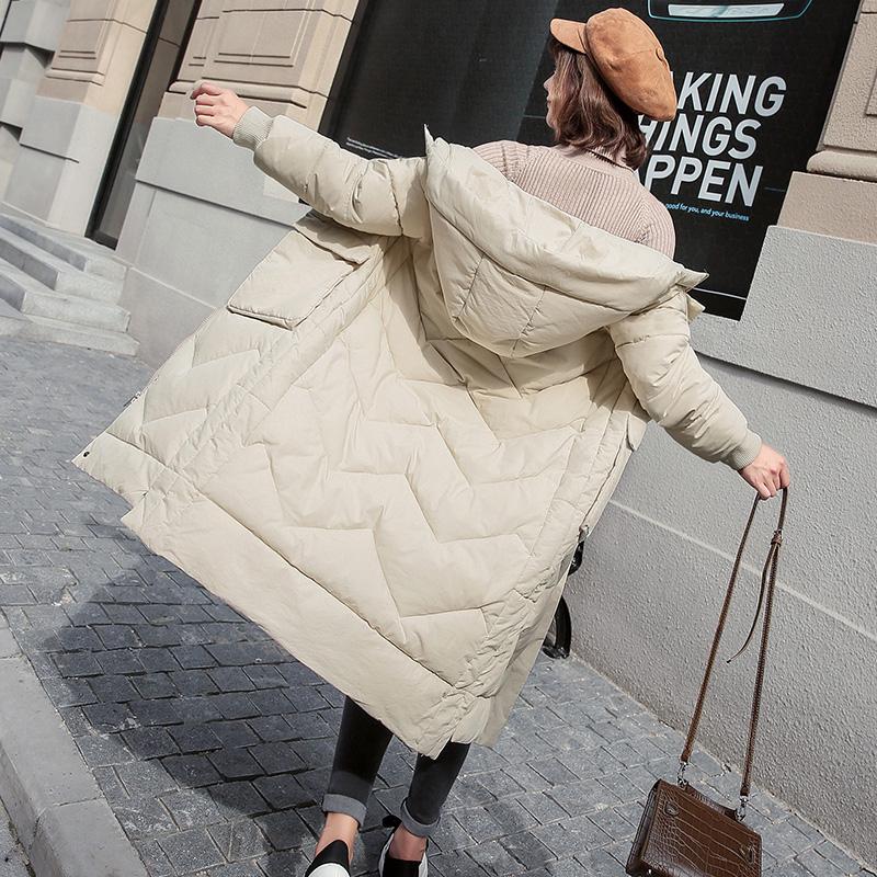反季羽绒棉服女冬季外套女加厚棉衣女中长款韩版棉袄女2018新款