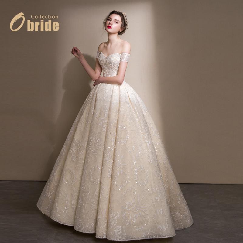 Obride2018 метров слово плечо ручной шов жемчужина делать под заказ перетащить хвост тонкий невеста роскошь свадьба