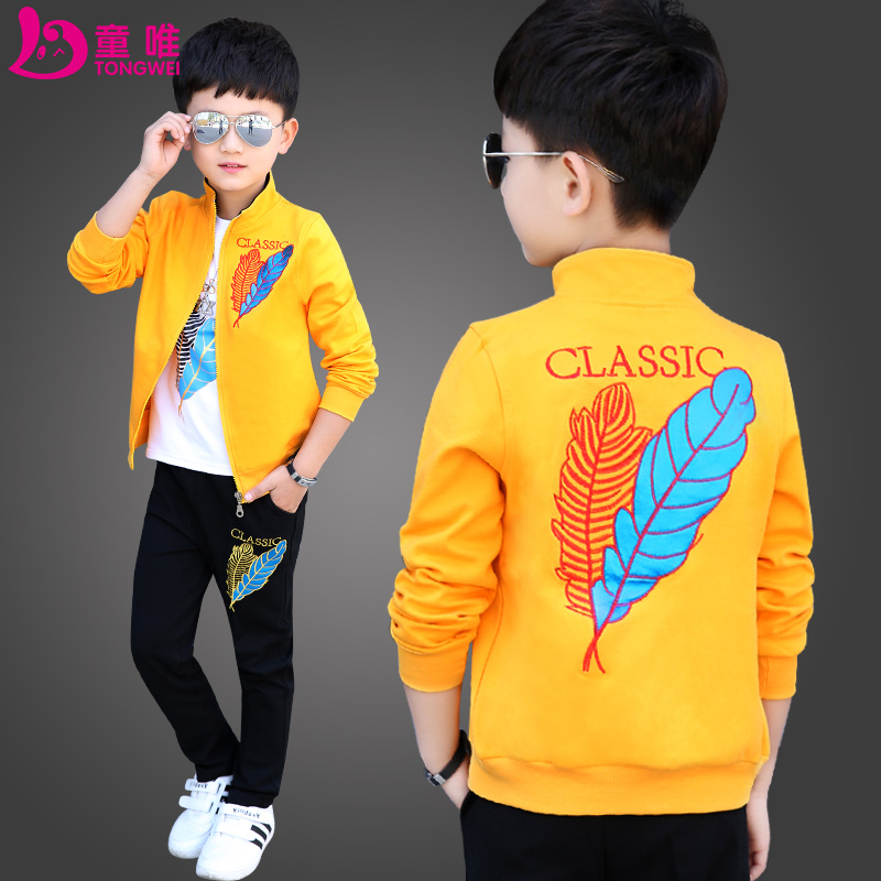 a0c5f5bf3 Children's clothing boy spring suit 2019 new spring models big children  children handsome boy sports foreign