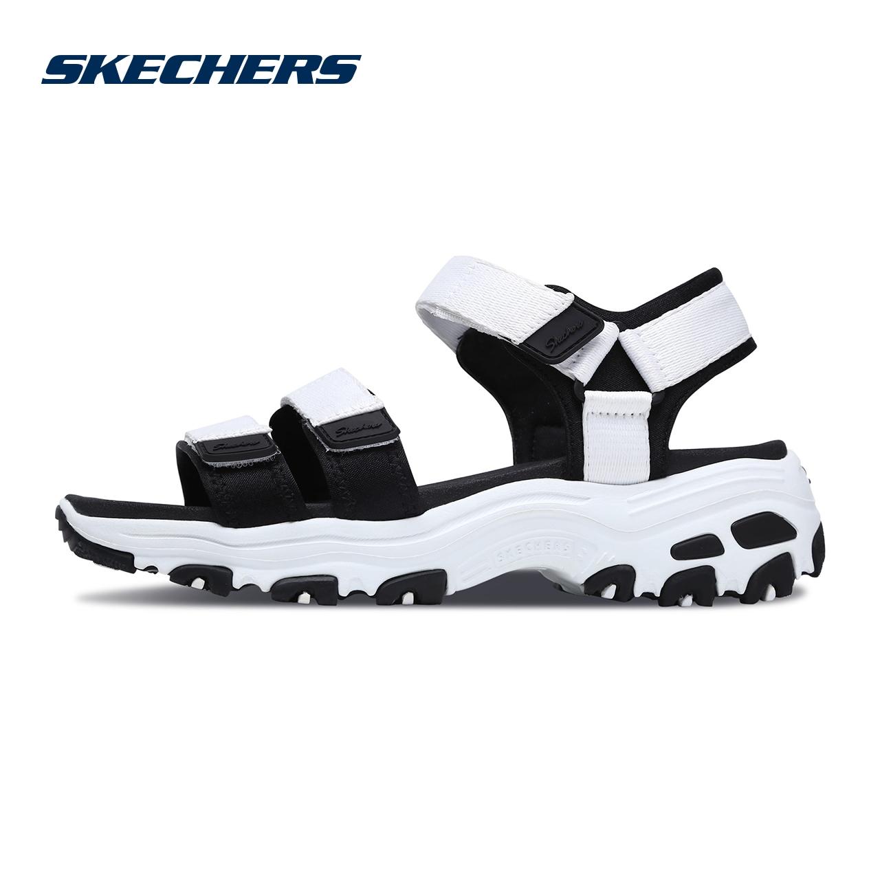 Skechers斯凯奇女鞋 Dlites 厚底增高凉鞋 魔术贴休闲鞋31514