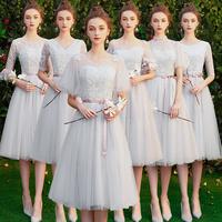 Платье для подружки невесты 2019 новая коллекция осень бессмертный прогрессивный свадебное серый Сестра группы платье юбка женская банкетка была худой фасон средней длины лето